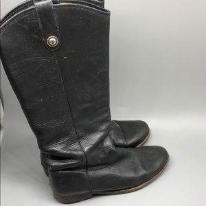 Frye black leather western / riding boots